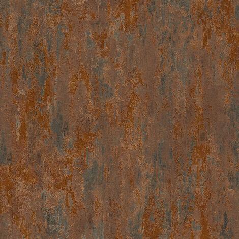 Papier peint cuivre   Papier peint effet rouille teinte chocolat   Papier peint brillant vintage   Papier peint salon 326511 - 10,05 x 0,53 m