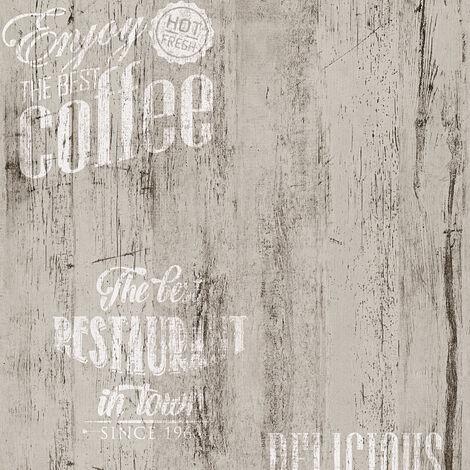 Papier peint cuisine vintage | Papier peint gris et blanc | Papier peint année 50 rétro SP03925 restaurant334814 - 10,05 x 0,53 m