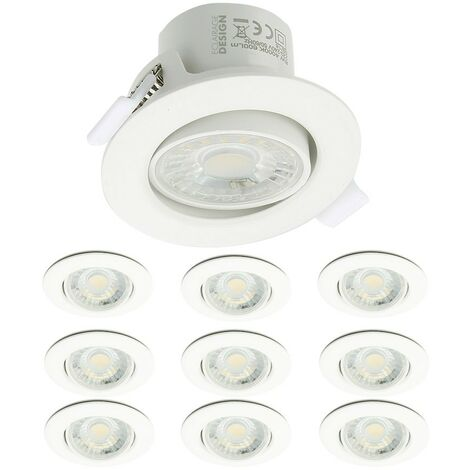 Lot de 10 Spots LED Encastrables Valence 9W Orientable Equ. 60W