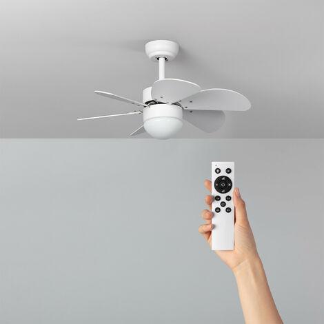 Ventilatore LED da Soffitto Orion Bianco 81cm Motore DC