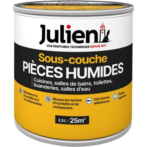 Sous-Couche avant peinture spécial Cuisine et Salle de Bains - aspect Mat Blanc 2,5L - Julien