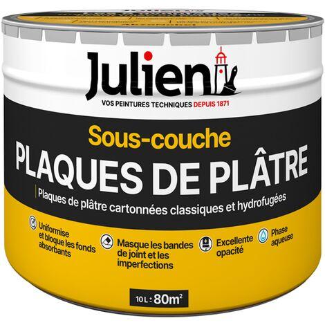 Sous-Couche Pour Plaques De Plâtre Cartonnées - aspect Mat Blanc 10L - Julien