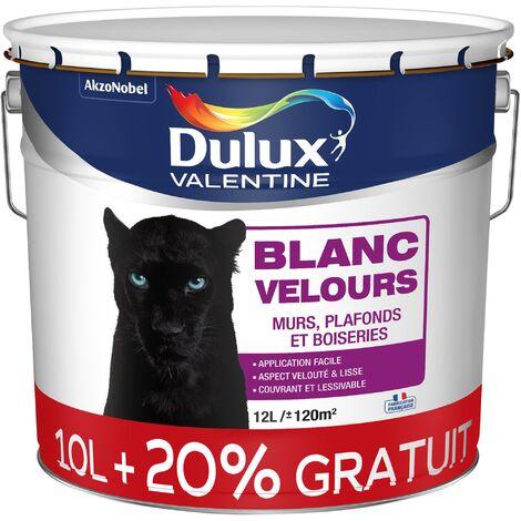 Peinture Blanche Velours pour Murs, Boiseries et Papier Peint - Dulux Valentine