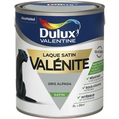 Peinture Laque Valénite Satin Gris Alpaga 2 L - Dulux Valentine
