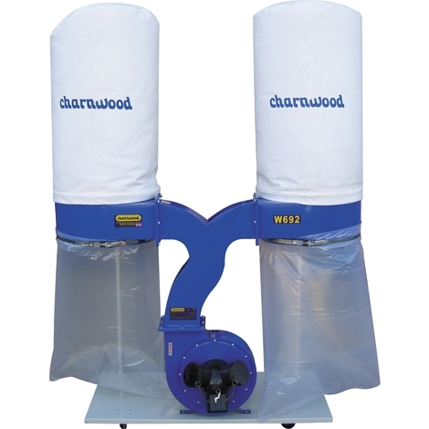 3hp Double Bag Dust Extractor