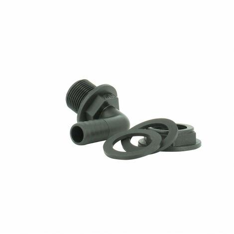 Trop-plein cuve eau 1000L - Embout coudé Diamètre 15 mm