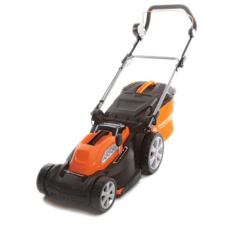 40V Li-Ion Battery Cordless 34cm Rotary Electric Lawnmower with Rear Roller by Yard Force