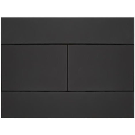 Milano Nero - Modern Black Toilet WC Dual Flush Wall Plate