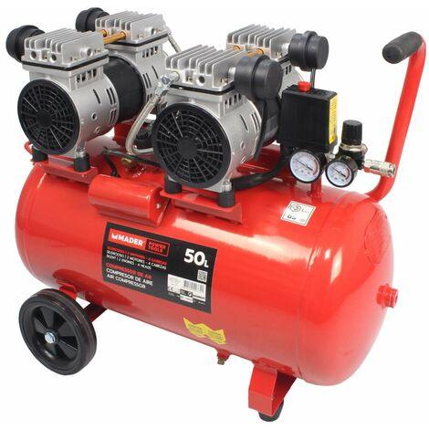 Compresor de Aire, Silencioso, 2 Motores, 4 Cabezas, 4HP, 50L - MADER® | Power Tools
