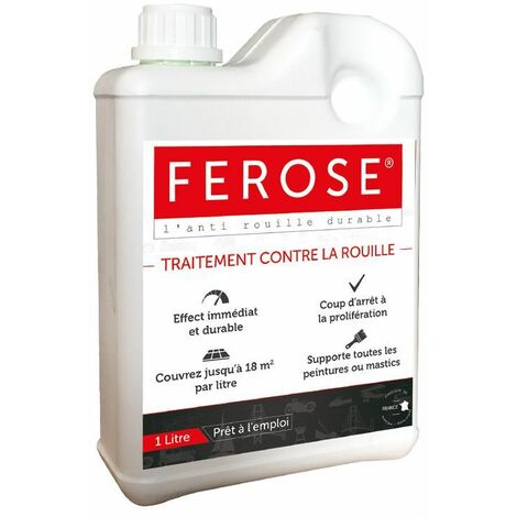 Traitement curatif anti rouille convertisseur de rouille Ferose - bidon 1 litre