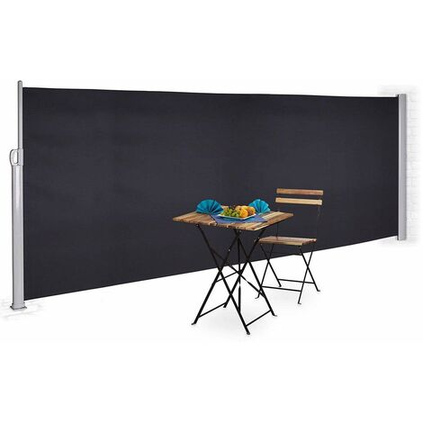 Bc-elec - ASA-200T Side awning anthracite grey 3x2m retractable for terrace, garden privacy screen