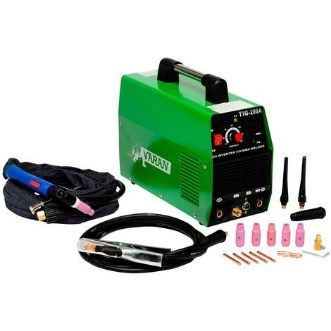 Varan Motors - var-tig200s Welding Station TIG, Portable and Inverter + ARC 200 Amps + Accessories