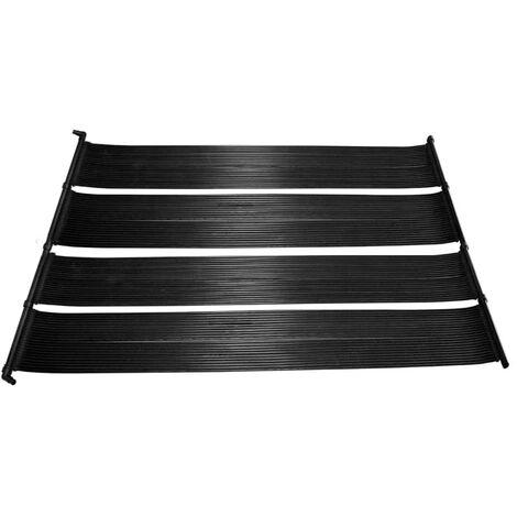 vidaXL Panel solar para calentador de piscina 2 unidades - Negro