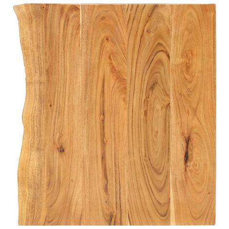 Encimera para armario tocador madera maciza acacia 80x55x2,5 cm
