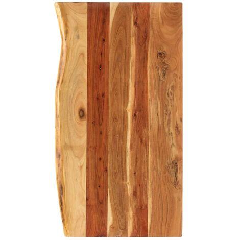 Encimera para armario tocador madera maciza acacia 100x55x3,8cm