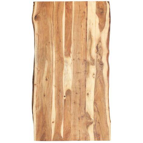 Superficie de mesa de madera maciza de acacia 120x60x3,8 cm