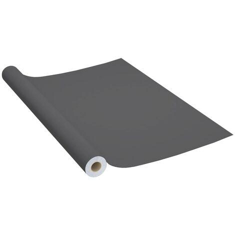 vidaXL Láminas autoadhesivas muebles PVC gris 500x90 cm - Gris