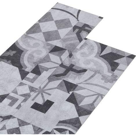 vidaXL Lamas para suelo de PVC autoadhesivas estampado gris 5,02m² 2mm - Gris