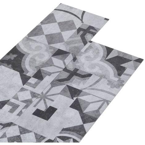 vidaXL Lamas para suelo de PVC estampado gris 5,26 m² 2 mm - Gris