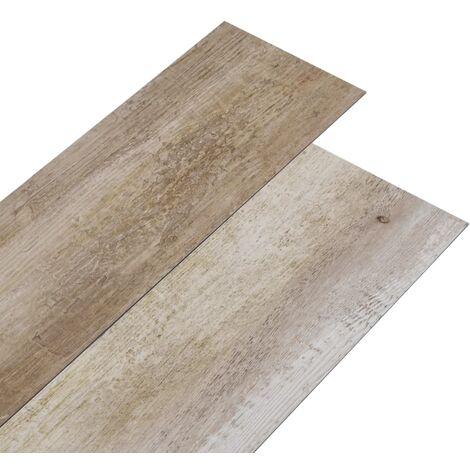 vidaXL Lamas para suelo de PVC madera deslavada 5,26 m² 2 mm - Marrón