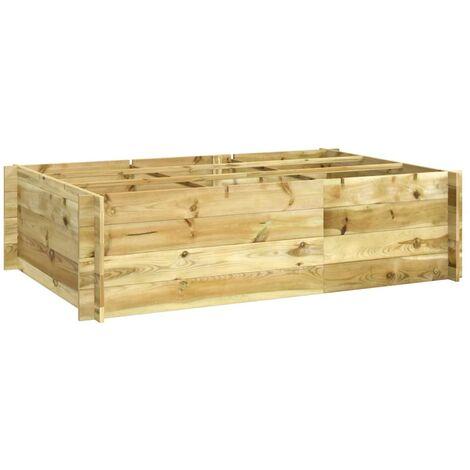 vidaXL Arriate de madera impregnada 150x100x40 cm - Marrón
