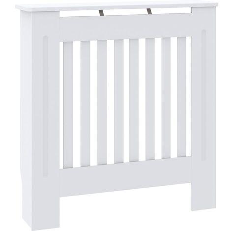vidaXL Cubierta para radiador MDF blanco 78 cm - Blanco
