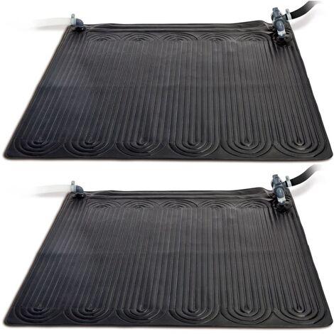 Intex Esterilla calefactora solar PVC 2 uds 1,2x1,2 m negra 28685 - Negro