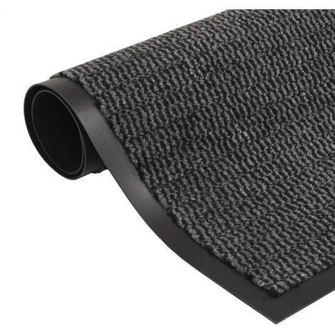 vidaXL Alfombra de entrada rectangular de nudo 80x120 cm antracita - Gris