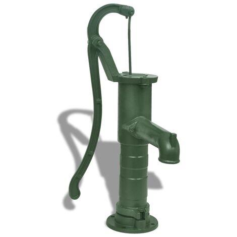 vidaXL Bomba de agua de jardín manual de hierro fundido - Verde