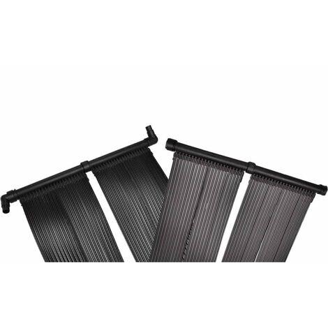 vidaXL Panel de calentador solar de piscina - Negro