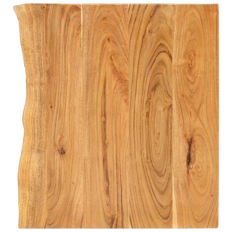 Piano per Lavabo Bagno in Massello di Acacia 80x55x3,8 cm