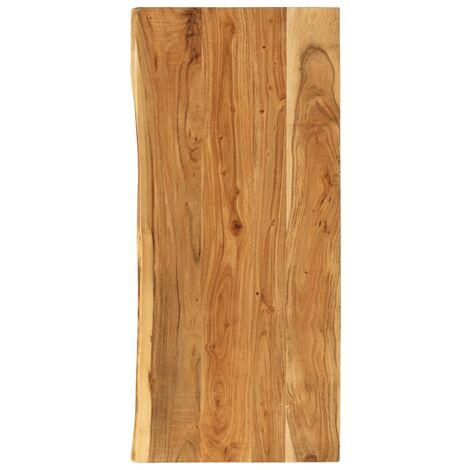 Piano per Lavabo Bagno in Massello di Acacia 120x55x3,8 cm