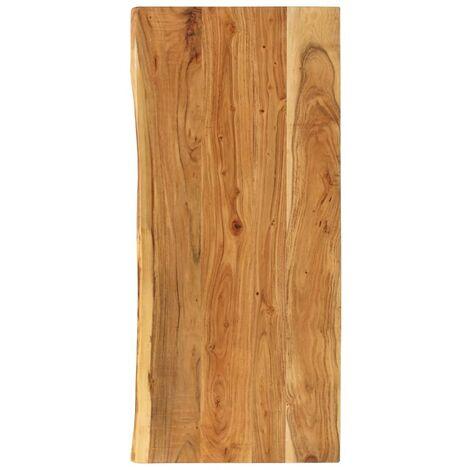 Piano per Lavabo Bagno in Massello di Acacia 140x55x3,8 cm