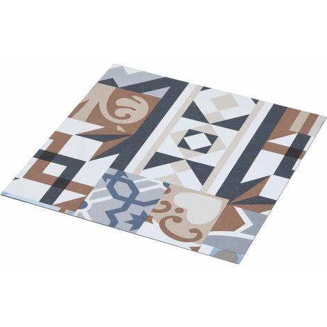 vidaXL Listoni Pavimento PVC Autoadesivi 5,11 m² Design Mono - Multicolore