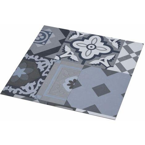 vidaXL Listoni Pavimento PVC Autoadesivi 5,11 m² Motivo Colorato - Multicolore