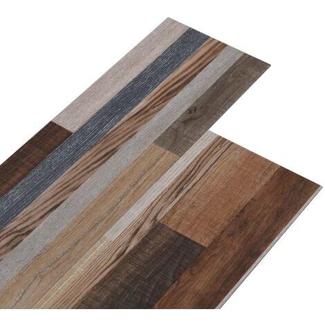 vidaXL Listoni per Pavimentazione in PVC 5,26 m² 2 mm Multicolore - Multicolore