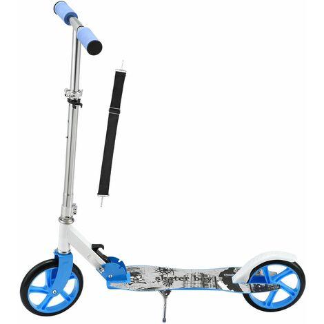 ArtSport Scooter Cityroller Skaterboy Big Wheel 205mm Räder klappbar & höhenverstellbar – Kinder-Roller ab 3 Jahre - Tretroller bis 100 kg – blau