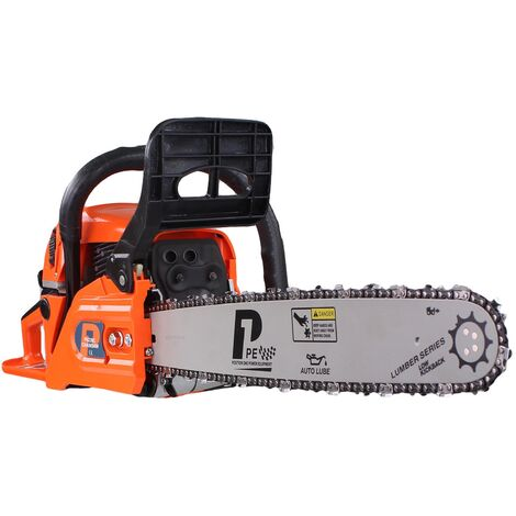 P1PE Hyundai P6220C Petrol 2-Stroke Chainsaw 62cc with 2 x Chains & Carry Bag