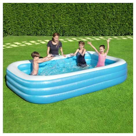 Piscina inflable rectangular 305x183x56 cm.