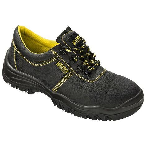 Zapatos seguridad piel negra wolfpack nº 45
