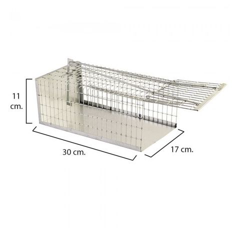 Trampa Ratas Jaula Metal Completa 30 X 17 X 11 Cm.