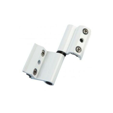 Par bisagra v2p eu aluminio blanco izquierda