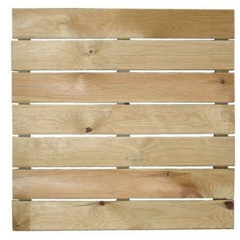 Loseta madera autoclave 50x50 cm.