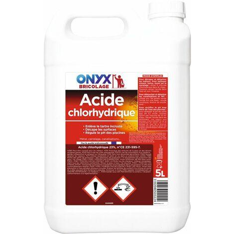 Acide chlorydrique 23 % bidon 5 l - ONYX