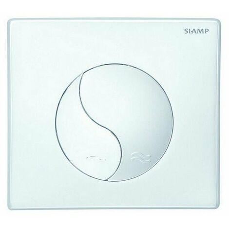 Plaque de commande WC Yin Yang blanche - SIAMP