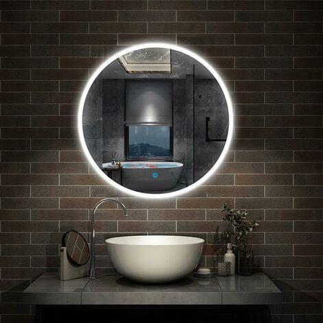 LED Spiegel rund 60/70/80 cm Touch Beschlagfrei