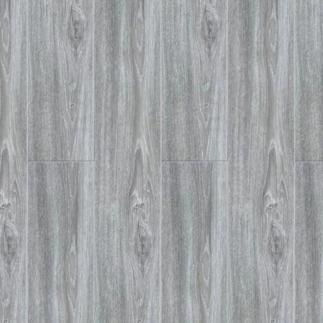 Pavimento in SPC ad incastro con clip Grey 18 x 120 cm Spazio