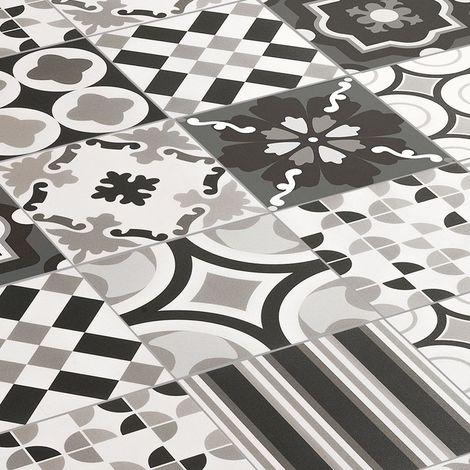 Gres porcellanato rettificato Patchwork Black & White 20 x 20 Sant'Agostino