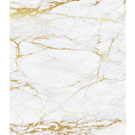 Pared posterior de vidrio Mármol oro