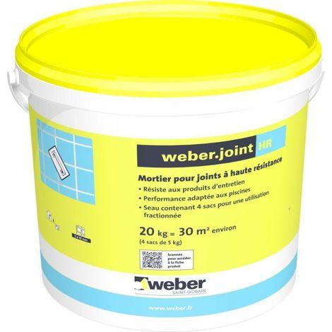 Weberjoint HR Gris ciment sceau de 20 kg-Weber